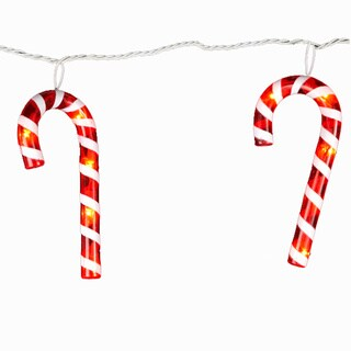 Kurt Adler 35-light 7-inch Red and White Candy Cane Light Set