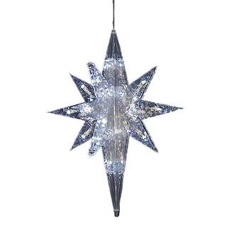 Kurt Adler UL 50-light 20-inch White LED Bethlehem Star
