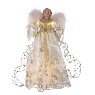 Kurt Adler 14-inch Gold Angel Treetop