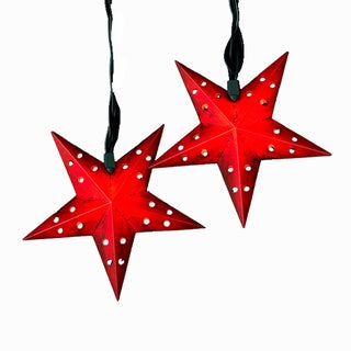 Kurt Adler 10-light 5-point Red Star String Light Set