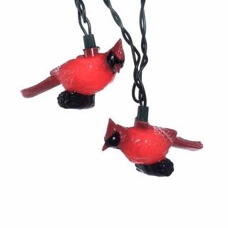 Kurt Adler 10-light Plastic Red Cardinal Light Set