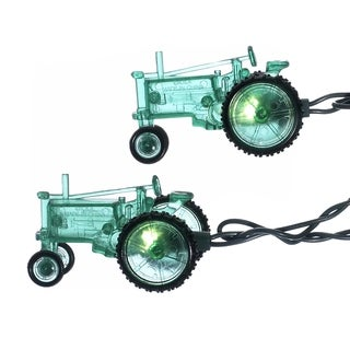 Kurt Adler 10-light Green Tractor Light Set