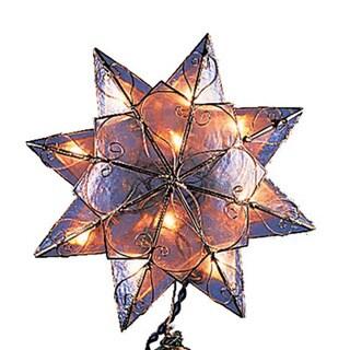 Kurt Adler 10-light 8-point Capiz Clear Star Treetop