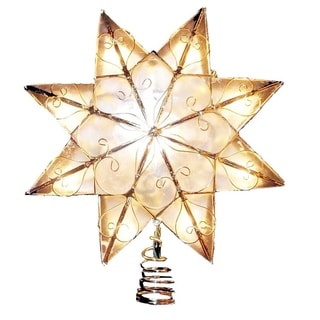 Kurt Adler Indoor 10-light 8-point Capiz Star Treetop with Arabesque Decoration