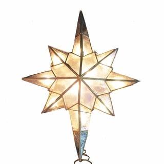 Kurt Adler 10-light Capiz Star Clear Treetop