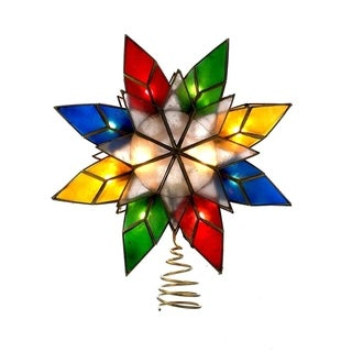 Kurt Adler 10-light Capiz Star Multicolored Treetop