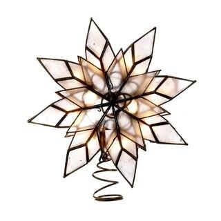 Kurt Adler 10-light Capiz Clear Star Treetop