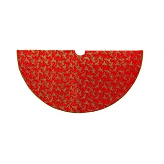 Kurt Adler 52-inch Red with Holly Decorative Treeskirt