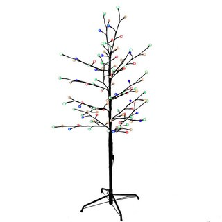 Kurt Adler 4-foot Multi-twinkle LED Brown Gumball Tree