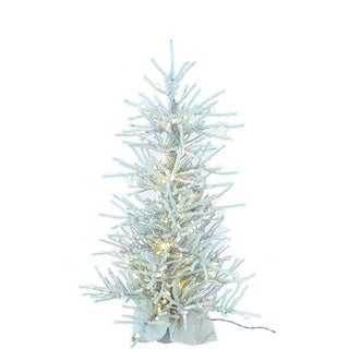 Kurt Adler 48-inch Pre-lit Flocked Twig Tree