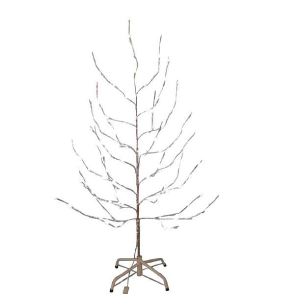 Shop Kurt Adler 6 Foot Silver Twig Tree With LED Twinkle Lights