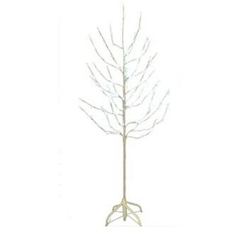 Kurt Adler 6-foot Pre-lit White Twig Tree with 120 White LED Lights