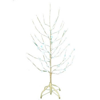 kurt adler 4 foot pre lit white twig tree with 120 white led lights - White Twig Christmas Tree