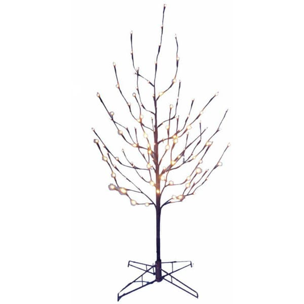 Kurt Adler 4 Foot Twig Tree With White Led Lights Free