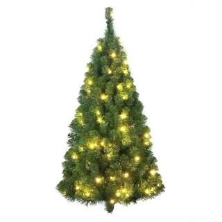 Kurt Adler 48-inch Pre-lit Norway Pine Wall Tree