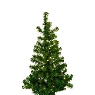Kurt Adler 36-inch Pre-lit Norway Pine Wall Tree