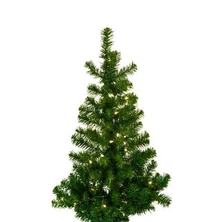 Kurt Adler 36-inch Pre-lit Norway Pine Wall Tree