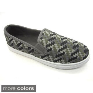 Blue Women's 'Veave Multi' Woven Canvas Flats