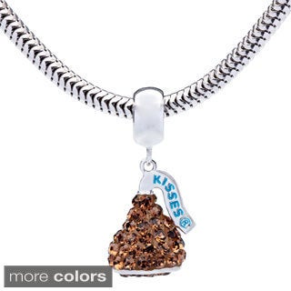 Sterling Silver Hershey's Kiss Dangle Charm Bracelet