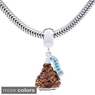 Sterling Silver Hershey's Kiss Dangle Charm Bracelet|https://ak1.ostkcdn.com/images/products/9539892/P16717946.jpg?impolicy=medium