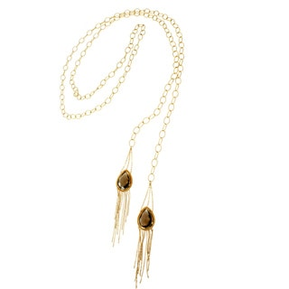 Michael Valitutti Sterling SIlver Wrap Necklace with Smokey Quartz