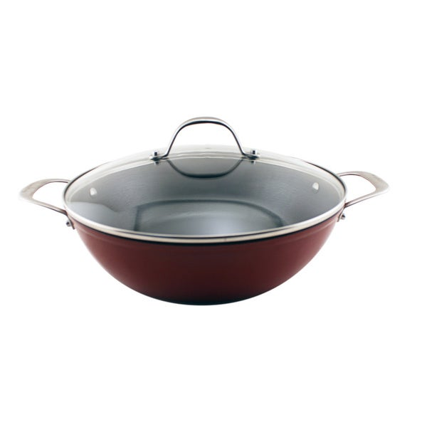Red 11 75 Inch Light Cast Iron Braiser Free Shipping