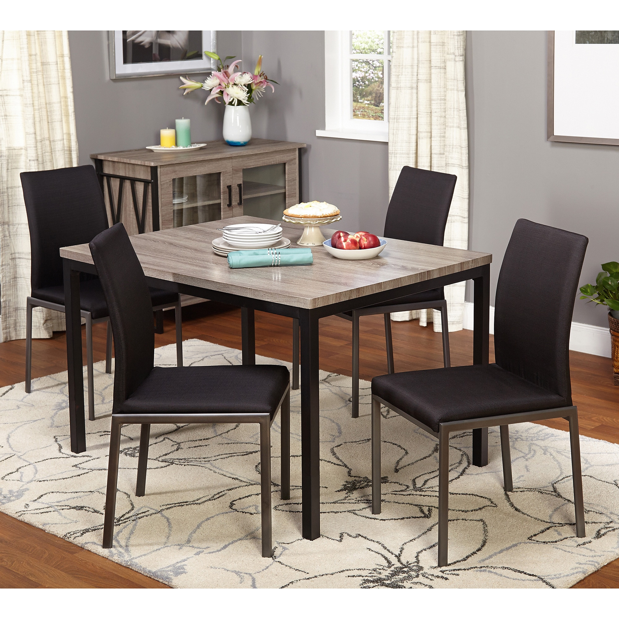 Lovely Simple Living Harrison 5 Piece Dining Set