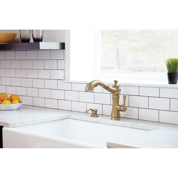 Shop Delta Cassidy Single Handle Pull-Out Kitchen Faucet ...