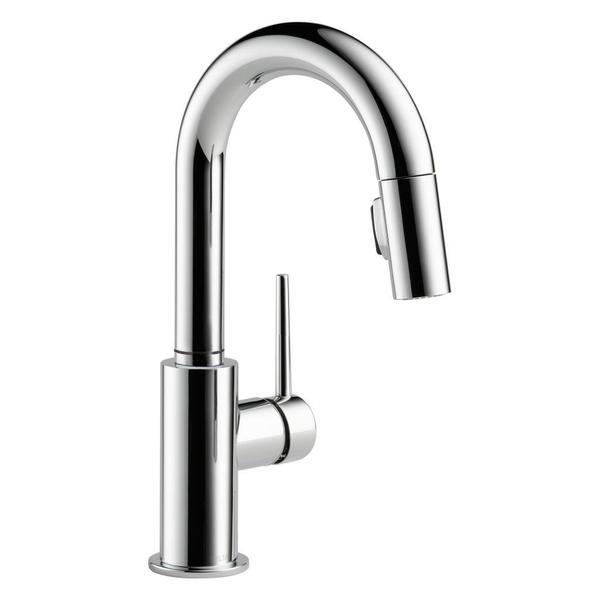 Delta Trinsic Single Handle Pull-Down Bar / Prep Faucet 9959-DST Chrome