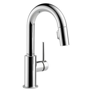 Delta Trinsic Chrome Single Handle Pull-down Bar/ Prep Faucet