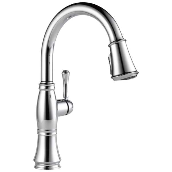 Shop Delta Cassidy Single Handle Pull-Down Kitchen Faucet ...