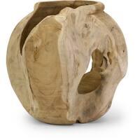 Macaque Teakwood Vase