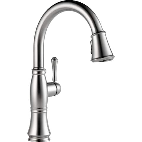 Delta Cassidy Single Handle Pull-Down Kitchen Faucet with ShieldSpray 9197-AR-DST Arctic Stainless