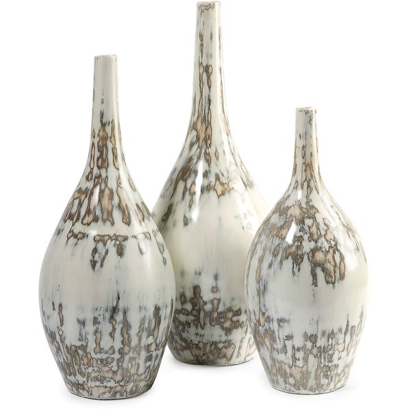Shop Hampton Mexican Pottery Vases Set Of 3 Free Shipping Today