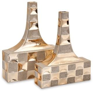 Toucey Golden Vases (Set of 2)