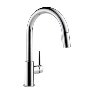 Delta Trinsic Single Handle Pull-Down Kitchen Faucet 9159-DST Chrome