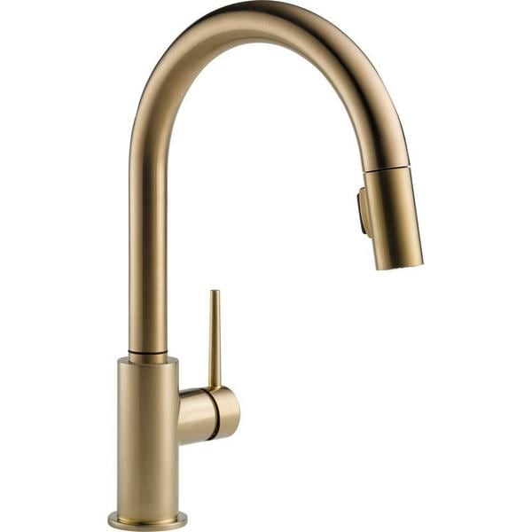 Delta Trinsic Single Handle Pull Down Kitchen Faucet 9159 CZ DST Champagne  Bronze