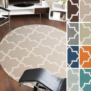 Hand-Tufted Adam Moroccan Tiled Wool Rug (3'6 Round)