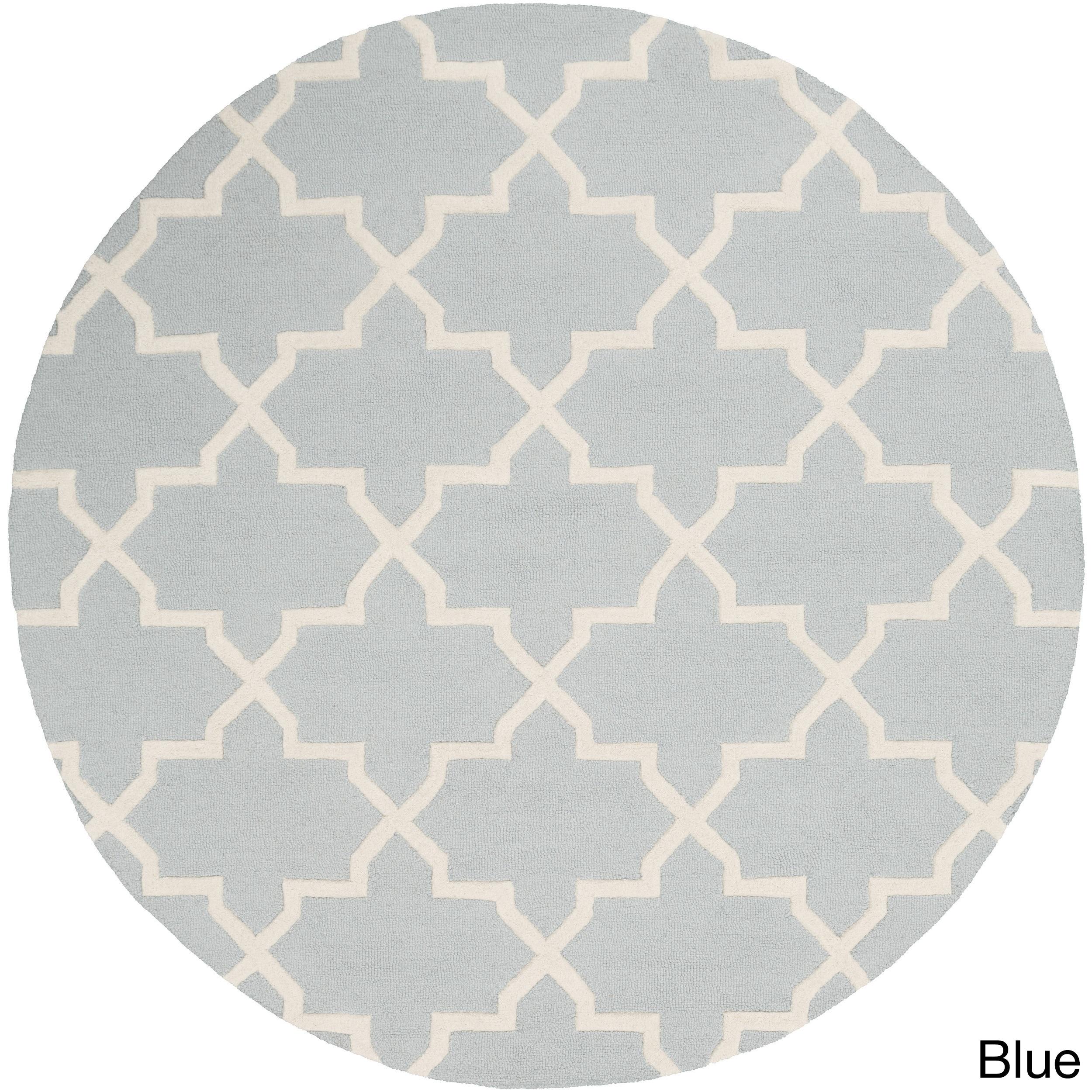 SURYA Hand-Tufted Ethel Moroccan Tiled Wool Rug (8' Round...
