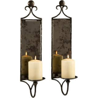 Hammered Mirror Wall Sconce Candle (Set of 2)|https://ak1.ostkcdn.com/images/products/9540281/P16718892.jpg?impolicy=medium