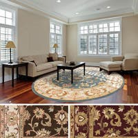 Hand-Tufted Finn Traditonal Bordered Wool Rug