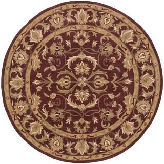 Hand-Tufted Fiona Traditonal Bordered Wool Rug (8' Round) - 8'
