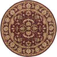 Hand-Tufted Fiona Traditonal Bordered Wool Area Rug (8' Round)