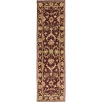 Hand-Tufted Ray Traditonal Bordered Wool Rug (2'3 x 14')