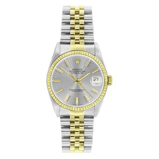 Pre-Owned Rolex Men's Datejust 16233 Two-tone Silver Stick Watch