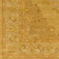 Hand-Tufted Fahua Bordered Wool Rug - 3' x 5'