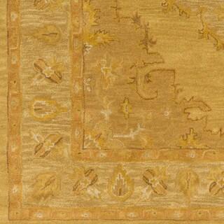 Hand-Tufted Fahua Bordered Wool Rug (4' x 6')