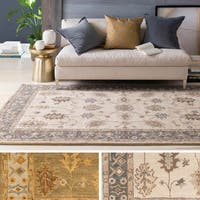 Laurel Creek Francis Hand-tufted Bordered Wool Area Rug - 3' x 5'