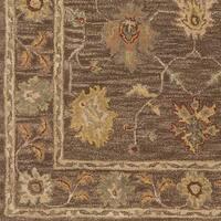 Hand-Tufted Akio Bordered Wool Rug - 5' x 8'