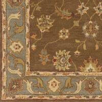 Hand-Tufted Feng Bordered Wool Rug - 5' x 8'